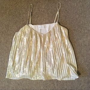 Abercrombie & Fitch Tops - Abercrombie & Fitch gold boho festival flowy tank